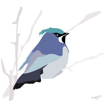 Miss Snowdrop, bird art of the day