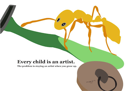 Every child is an artist,ant art of the day,ant, ant art