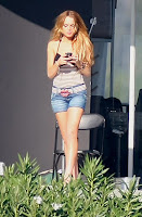 Lindsay Lohan Is Spread Wide Open And Smoking