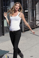Gisele Bundchen Works The Streets