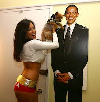 Obama Girl Shows Her Puppies To Obama