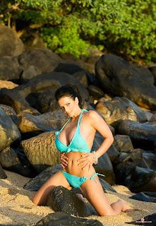 Denise Milani in Bikini Celebrity Photos
