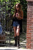 Lindsay Lohan's Short Shorts Aren't Short Enough