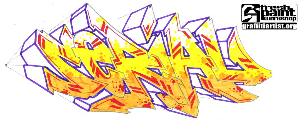Sketch 3D Graffiti Letter
