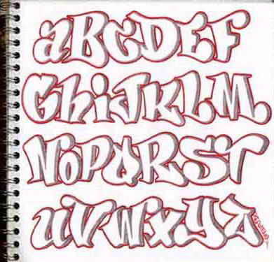 blackbook sketch alphabet graffiti design letters a z in paper
