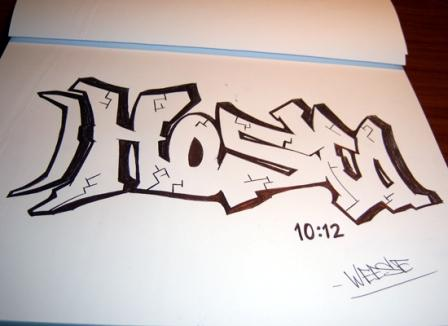 Grafity draw sketch graffiti alphabet design on paper for How to draw lettering book