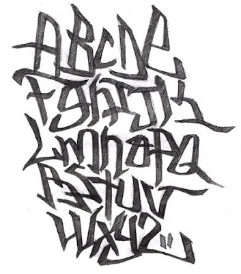 Abstract Graffiti Alphabet Classic