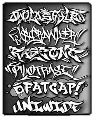 graffiti alphabet block style. Black Classic Graffiti Fonts
