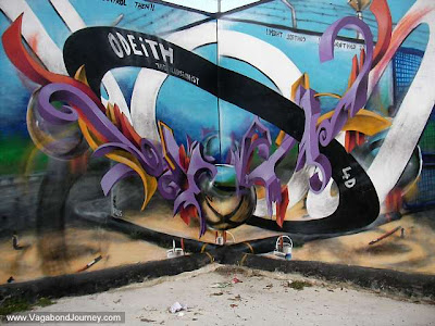 """ODEITH"" 3D Graffiti Murals Art. This is the graffiti that was made between"