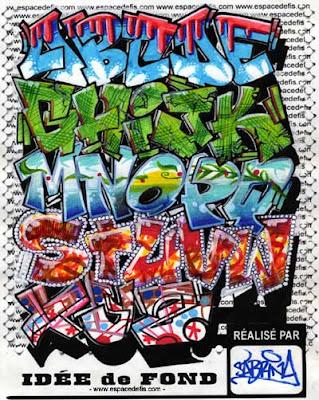 Graffiti alphabet >> alphabet letter a-z block style design ideas