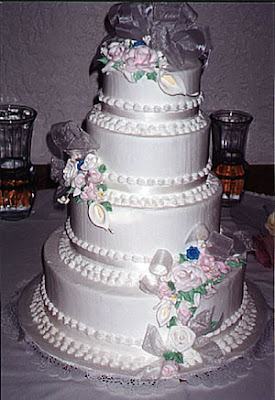 Frosted White Wedding Cake