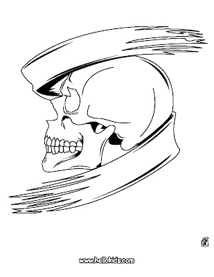 Halloween Coloring Pages  Kids on Scary Halloween Skull Coloring Page    Disney Coloring Pages