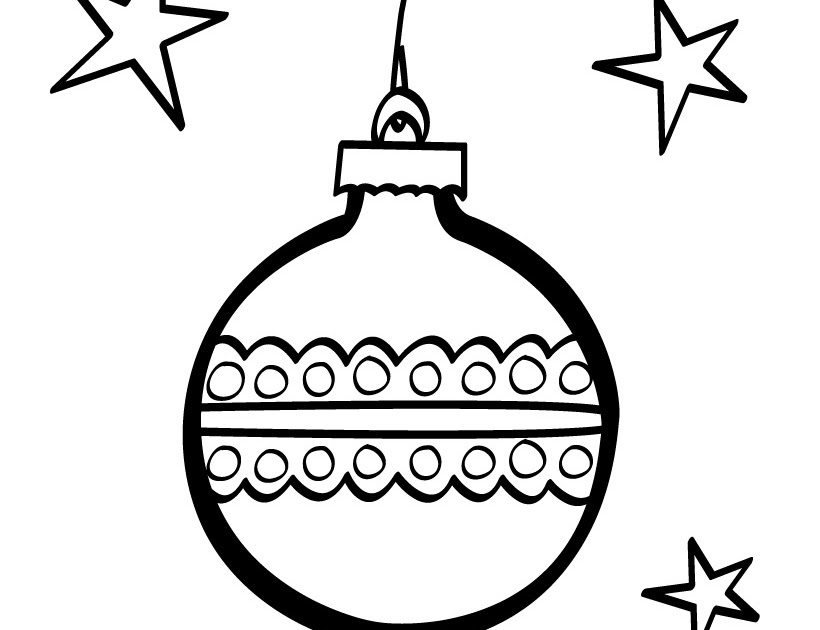 christmas ball coloring page - star christmas ball coloring pages disney coloring pages
