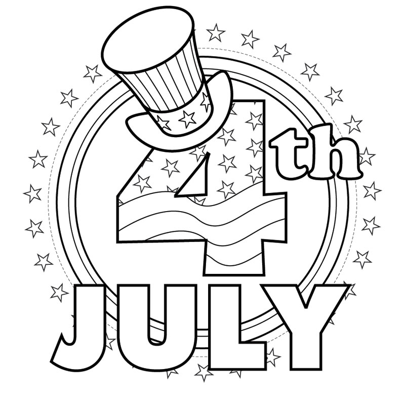 coloring pages 4 of july - photo#7