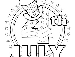 4th Of July Butterfly Coloring Page