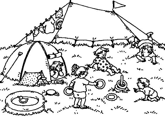 Transmissionpress Backyard Camps Kids Coloring Pages