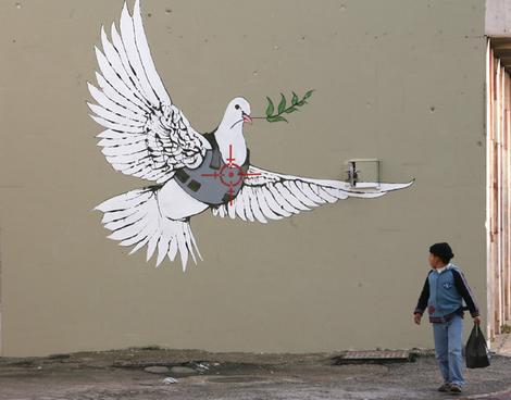banksy graffiti. Banksy Graffiti - Adove of