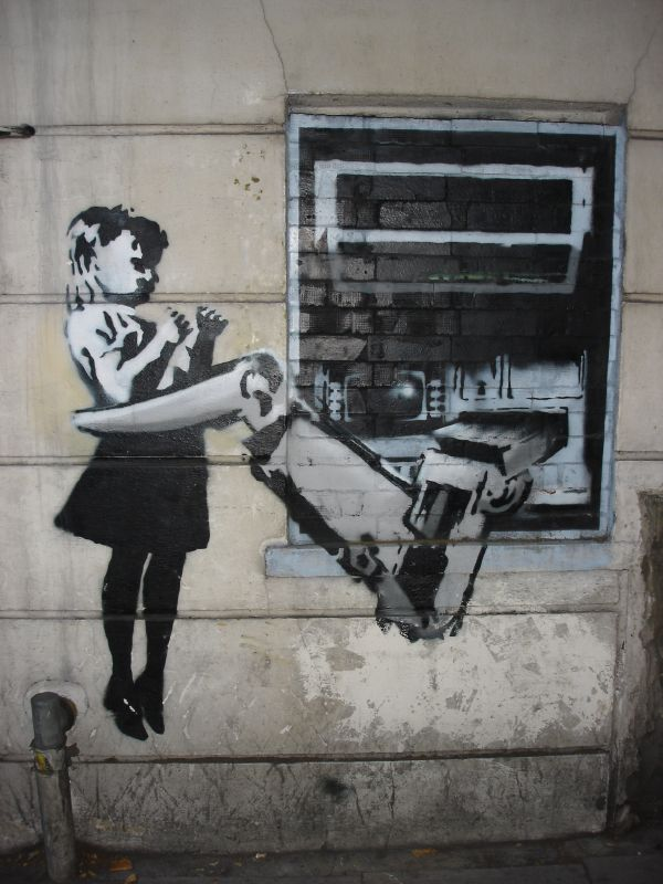 banksy graffiti wallpaper. Banksy Graffiti - Is It Art Or