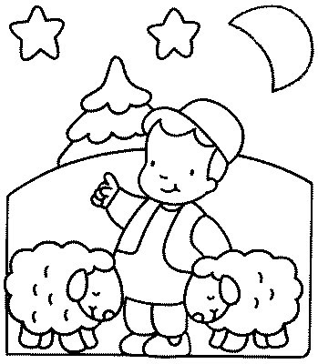 Little boy blue with his sheep kids coloring pages for Little boy blue coloring page