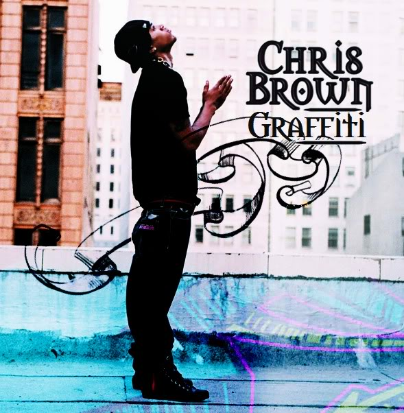 chris brown name in graffiti