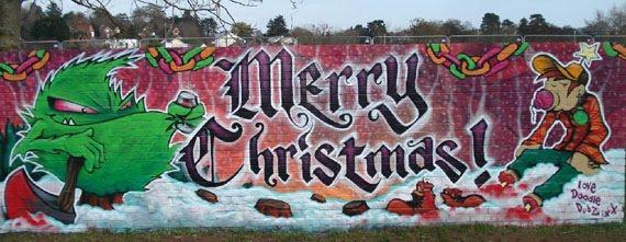 Graffiti Walls 15 Picture Wall Of Christmas Graffiti Art