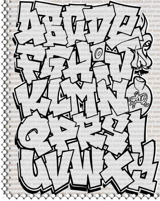 Graffiti Alphabet Letters Collection