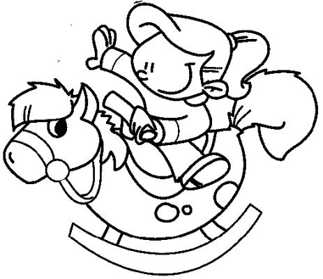 Transmissionpress Kids Coloring Pages Rocking Horse