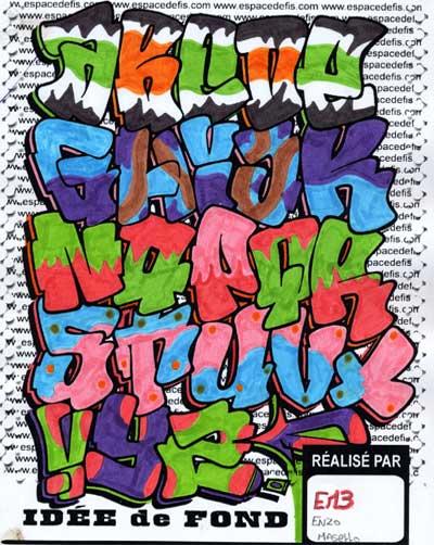 Graffiti alphabet alphabet graffiti