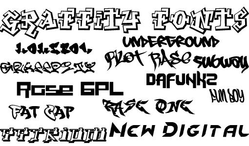 graffiti font photoshop