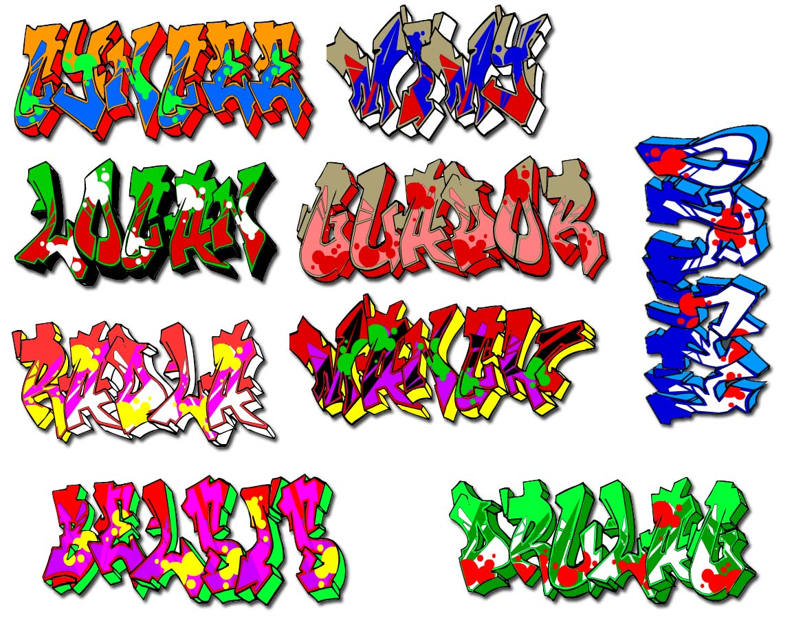 Graffiti wildstyle graffiti graffiti names font