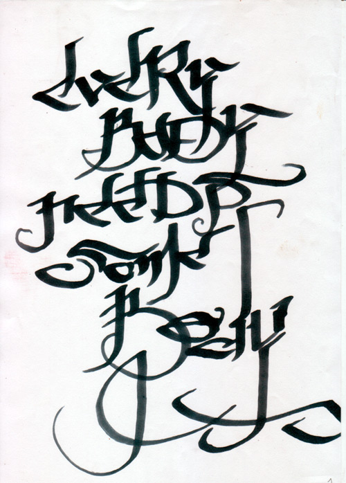 letras de graffiti. Letters/Letras de Graffiti