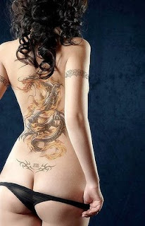 sexy babe with tattoo asian