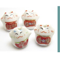 maneki neko Japan cats beads