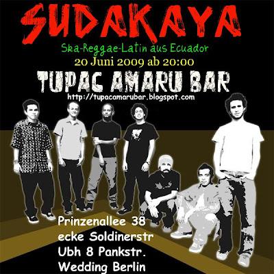 tupac amaru bar berlin sudakaya ska reggae latin session after party mit kid watusi. Black Bedroom Furniture Sets. Home Design Ideas