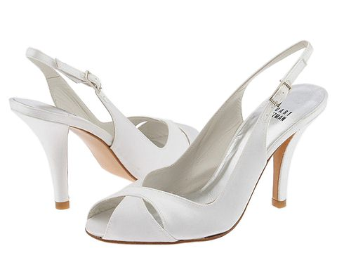 simple white bridal shoes