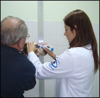 exame para diagnóstico do Glaucoma