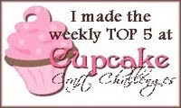 I made the Top 5 at Cupcake Craft Challenges