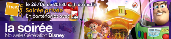 Soirée privée Fnac à Disneyland Paris