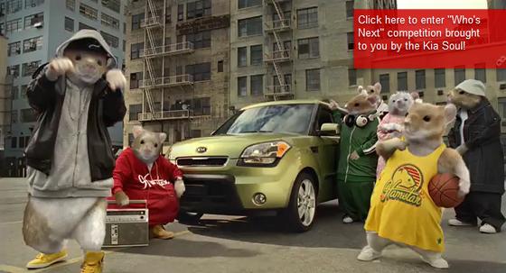 Kia Soul et les hamsters