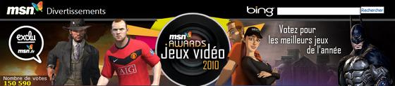 MSN Awards Jeux Vidéo 2010