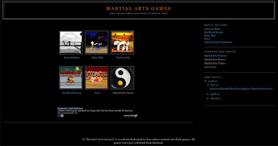 martial arts games