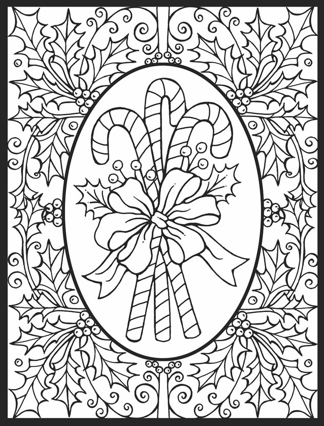 candy cane ornaments coloring pages - photo#23