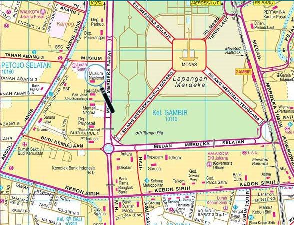 Peta Lokasi Museum Nasional