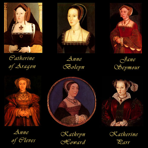 Here Are Royal Portraits Of Henrys 6 Wives Katherine Aragon Anne Boleyn Jane Seymour Cleves Howard And Parr