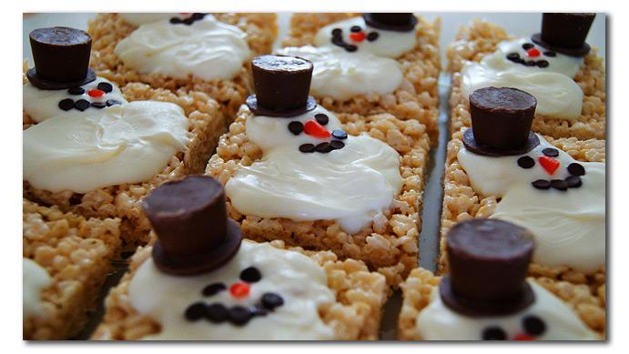 melty snowman treats recipe