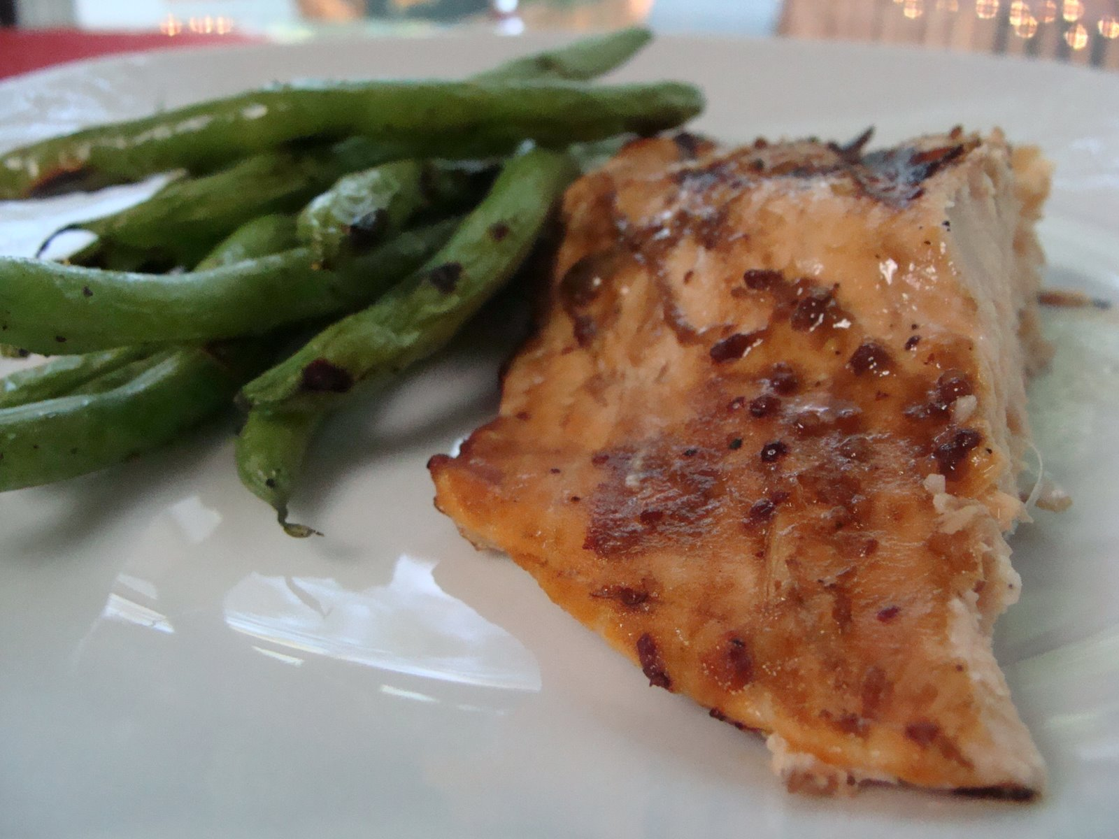 Grilled Salmon with Honey Mustard Glaze