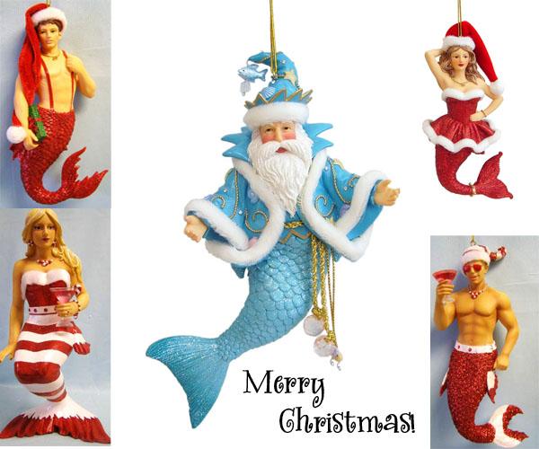 Mermaid Sighting: Merry Mermaid Ornaments! | Mermaid Cottages on ...