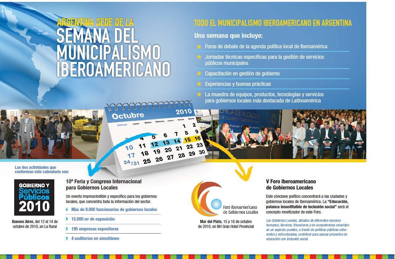Semana del Municipalismo Iberoamericano en Argentina - 12 al 16 de octubre de 2010
