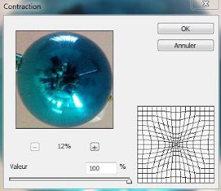 """Figure 3: La fenêtre de paramètres """"Contraction"""" de Photoshop."""