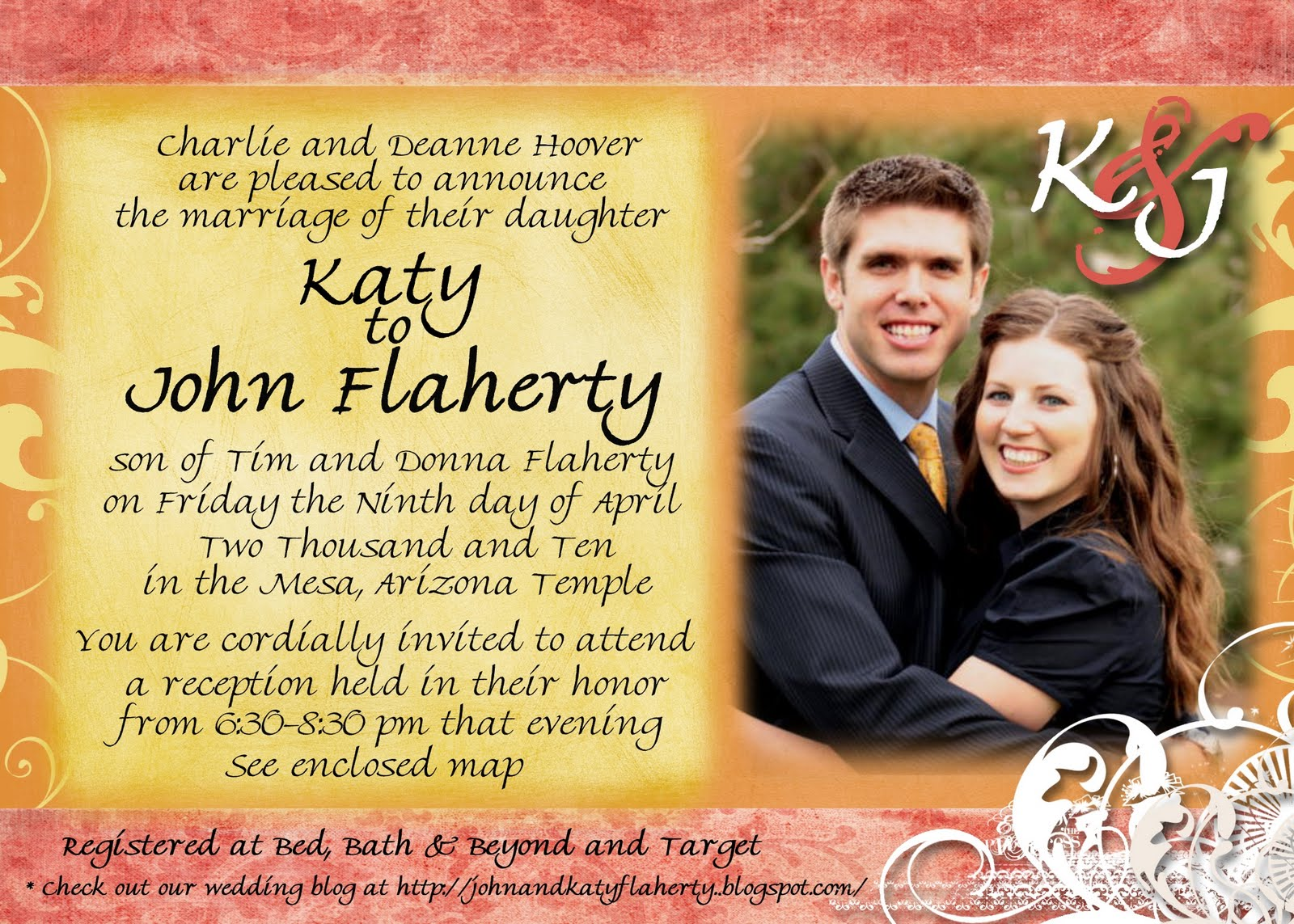John and katy wedding announcement wedding announcement monicamarmolfo Image collections